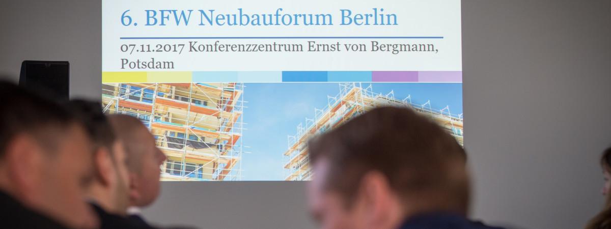 BFW Bundesverband                                       Neubauforum am 07.11.2017                         Konferenzzentrum Ernst von Bergmann, Potsdam.                                                            Foto: Claudius Pflug